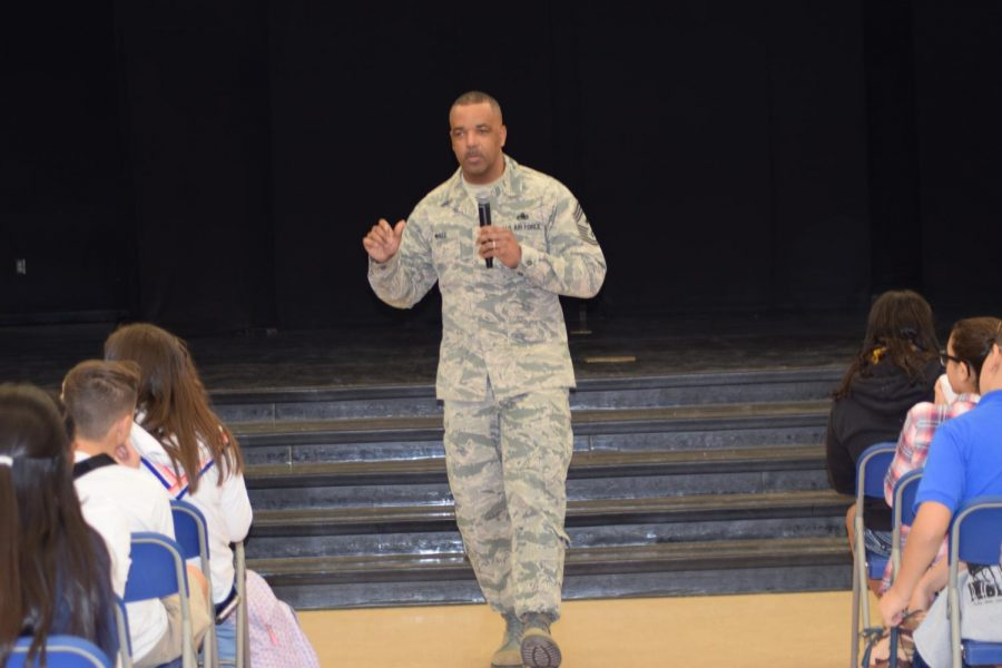 Chief Master SGT.  Timothy White, Jr. inspires at DRA!