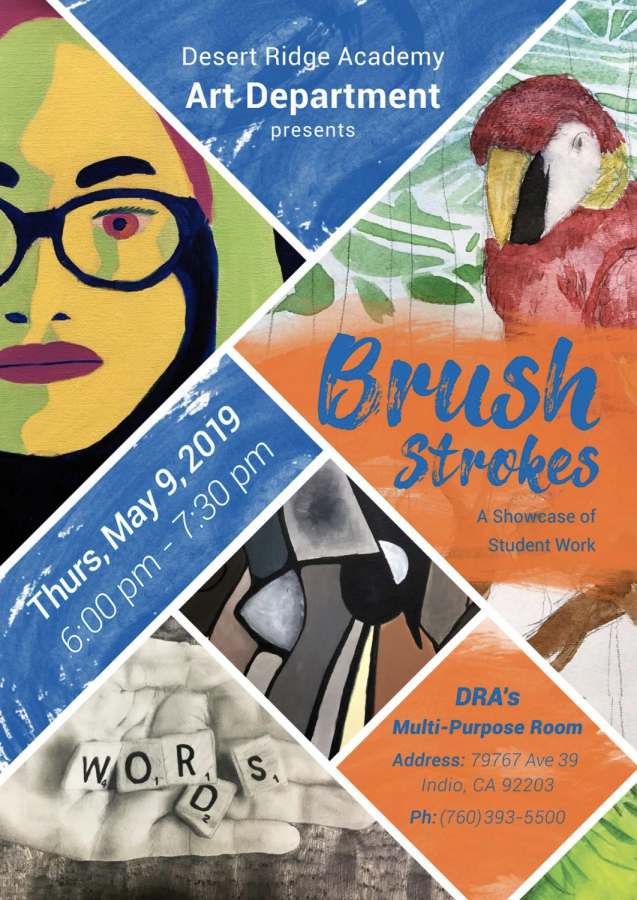Brush Strokes – A showcase of student work presented by the art department