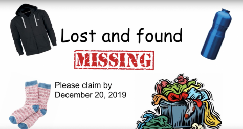 Claim you lost items by Friday, Dec. 20 2019