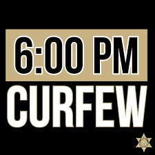 Riverside curfew starts tonight at 6:00 p.m.