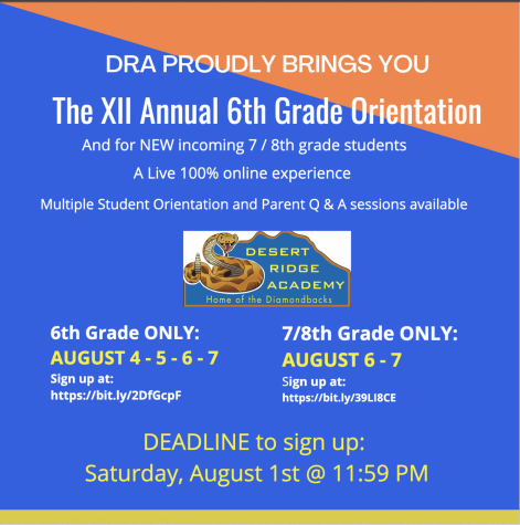 DRA proudly brings you the XII annual 6th grade orientation
