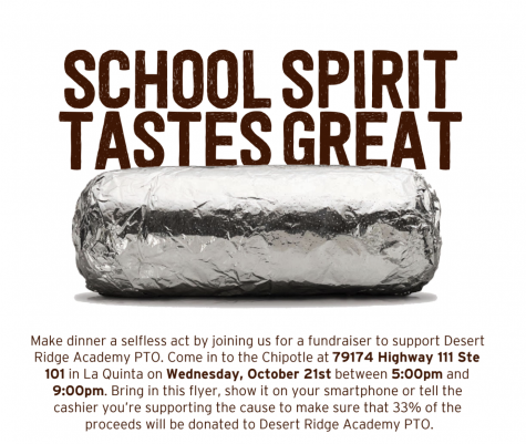 PTO dine-out at Chipotle in La Quinta is Wed. Oct. 21, 2020