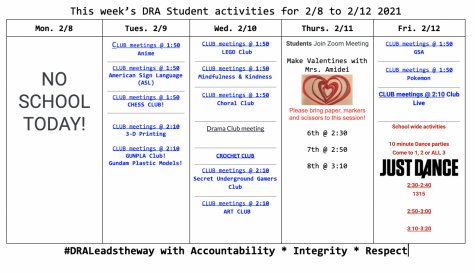 Desert Ridge Academy club and school activities week of Feb. 8-12