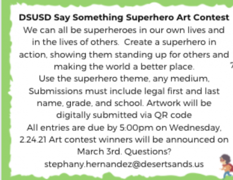 DSUSD Say something superhero art contest